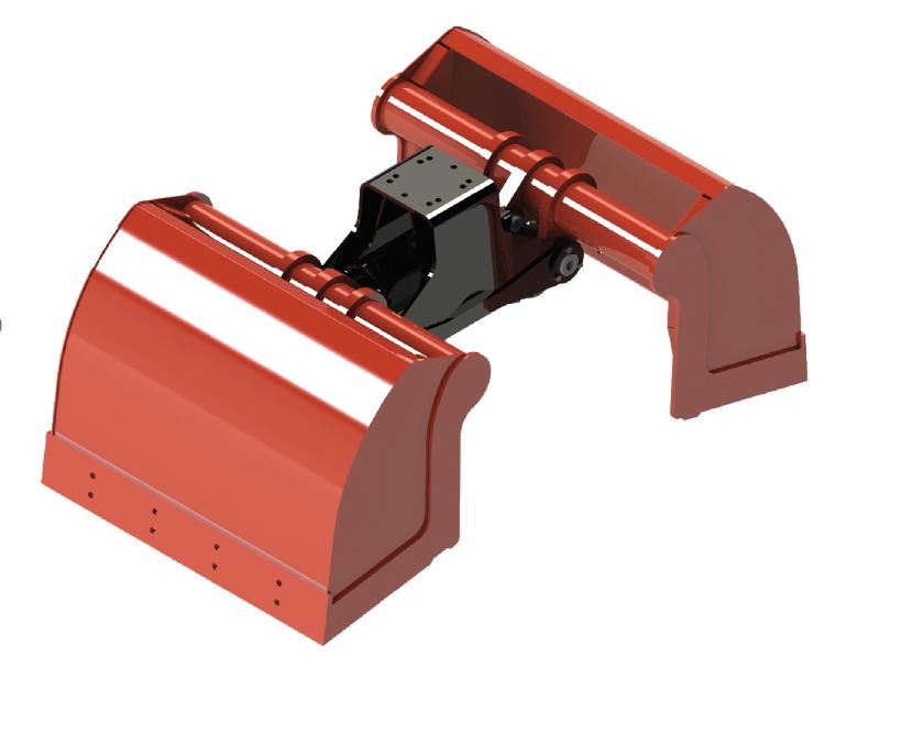 Bivalva para grúa con laterales  BV-L 125