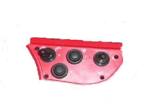 Panel lateral derecho con  botones mando Scanreco  RC400